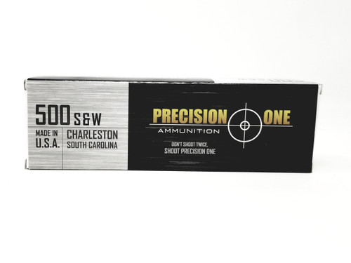 Precision One 500 S&W Mag Ammunition 992 350 Grain Full Metal Jacket 20 Rounds