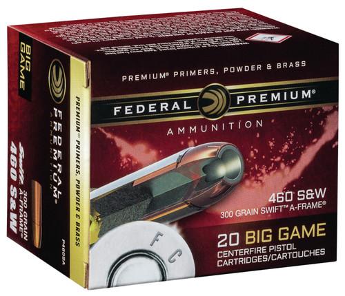 Federal 460 S&W Mag Ammunition P460SA 300 Grain Swift A-Frame 20 Rounds