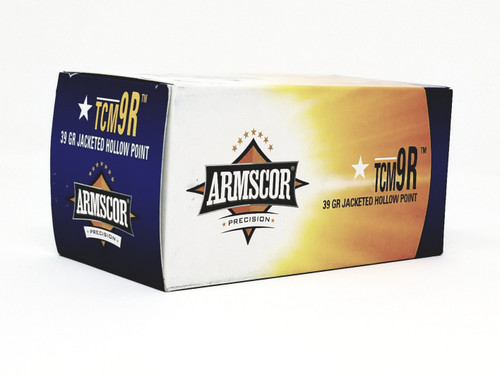 Armscor 22 TCM 9R Ammunition 50328 39 Grain Jacketed Hollow Point Value Pack of 100 Rounds
