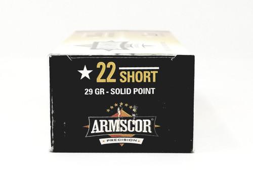 Armscor 22 Short Ammunition 50415 29 Grain Solid Point 50 Rounds