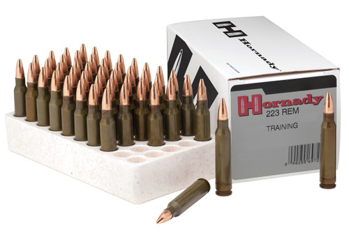 Hornady 223 Rem Ammunition Training 9760EL 75 Grain Hollow Point Boat Tail 50 Rounds