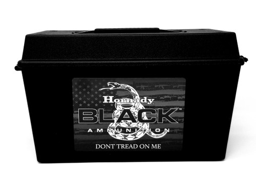 Hornady 450 Bushmaster Ammunition Black 82249 250 Grain FTX Ammo Can of 150 Rounds.