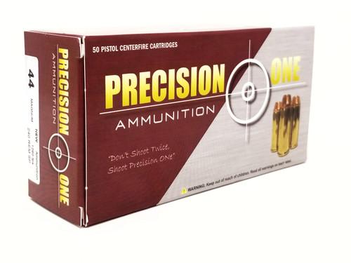 Precision One 44 Magnum Ammunition 988 240 Grains Rem Soft Point Case of 500 Rounds
