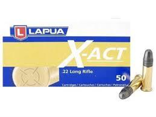 Lapua 20 LR Ammunition X-Act LU420161 40 Grain Lead Round Nose 50 Rounds