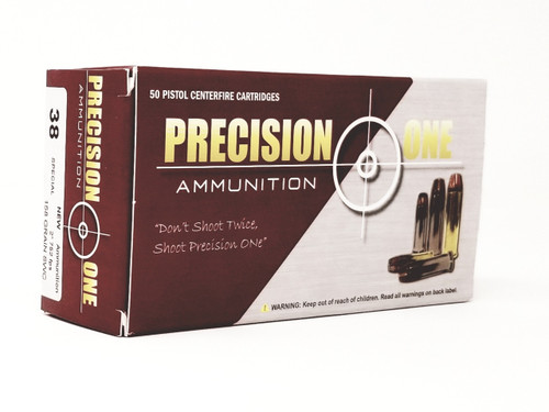 Precision One 38 Special Ammunition 158 Grain Semi Wadcutter 50 Rounds