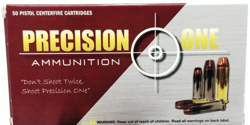 Precision One 357 Mag Ammunition *Seconds* 158 Grain Jacketed Hollow Point 50 Rounds