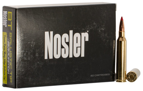 Nosler 7mm Rem Mag Ammunition 40045 150 Grain Ballistic Tip 20 Rounds
