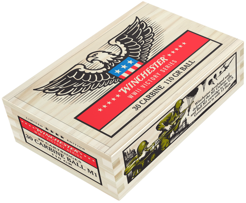 Winchester 30 Carbine Ammunition WWII Victory Series X30M1WW2 110 Grain Ball 20 rounds