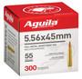 Aguila 5.56x45mm NATO Ammunition 1E556126 55 Grain Full Metal Jacket Boat Tail Bulk Pack 300 Rounds