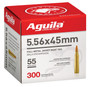 Aguila 5.56x45mm NATO Ammunition 1E556126 55 Grain Full Metal Jacket Boat Tail Bulk Pack CASE 1200 Rounds