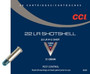 CCI 22LR SHOTSHELL, CCI 0039, #12 Shot, 31gr, BRICK 200 rounds