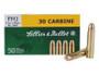 Sellier & Bellot 30 Carbine Ammunition 110 Grain Full Metal Jacket 50 rounds