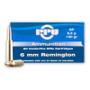 Prvi PPU 6mm Rem Ammunition PP660 100 Grain Soft Point Boat Tail 20 Rounds