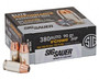 Sig Sauer 380 Auto Ammunition V-Crown E380A1-20 90 Grain Jacketed Hollow Point 20 rounds