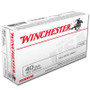 Winchester 40 S&W Ammunition USA40SW 165 Grain Full Metal Jacket CASE 500 rounds