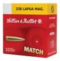 Sellier & Bellot 338 Lapua Magnum Ammunition SB338LMA Sierra Match King 250 Grain MatchKing Hollow Point 10 rounds