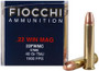 Fiocchi 22 WMR Ammunition 22FWMC 40 Grain Total Metal Jacket 50 rounds