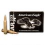 Federal 223 Rem Ammunition American Eagle AE223K 55 Grain Full Metal Jacket CASE 500 rounds