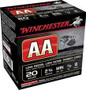 """Winchester 20 GA FeatherLite AA 2 3/4"""" 7/8 oz #8 shot AA20FL8 Low Recoil 980fps 250 rounds"""