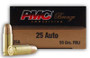 PMC 25 Auto Ammunition PMC25A 50 Grain Full Metal Jacket CASE 1000 rounds