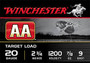 "Winchester 20 GA AA 2 3/4"" 7/8 oz #9 shot AA209 1200fps 250 rounds"