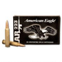 Federal 223 Rem Ammunition American Eagle AE223K 55 Grain Full Metal Jacket 20 rounds