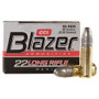 CCI 22LR Ammunition Blazer 0021 40 Grain Lead Round Nose 50 Rounds