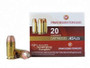 DRT 45 Auto Ammunition Terminal Shock 150 Grain Jacketed Hollow Point 20 rounds