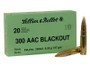 Sellier & Bellot 300 AAC Blackout Ammunition SB300BLKB 147 Grain Full Metal Jacket 20 Rounds