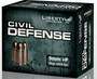 Liberty 9mm +P Ammunition Civil Defense LACD09014 50 Grain Lead-Free Fragmenting Hollow Point 20 Rounds