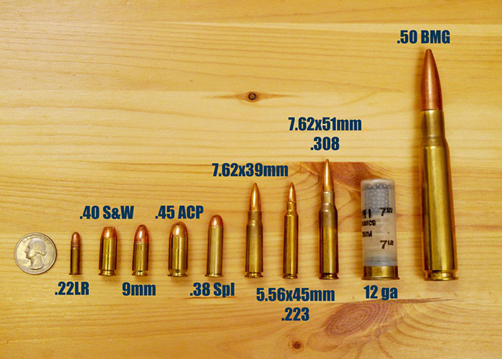 Five Most Popular  Ammunition Types