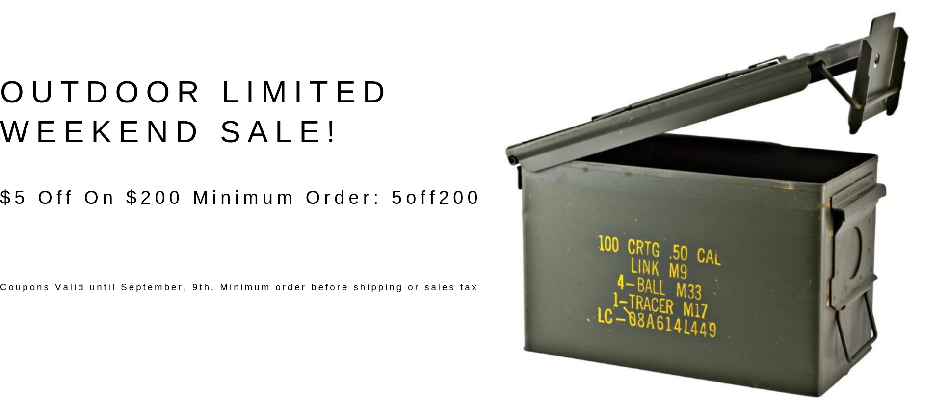 Outdoor Limited | Cheap Ammo For Sale | Buy Bulk Ammo Online