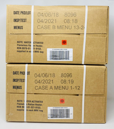 1 New MRE Ready-to-Eat US Army Meal Menu 13 cheese tortellini tomato sauce