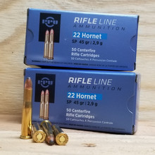 Rifle Ammo - 22 Hornet Ammo - Outdoor Limited