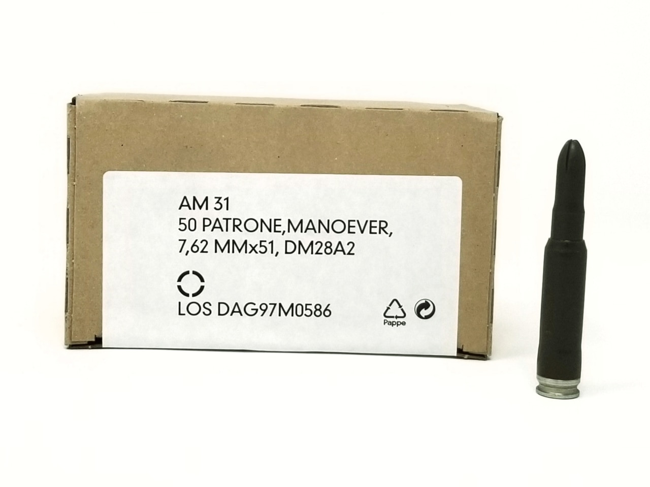 DAG 7.62x51mm Blank Training Ammunition 50 Rounds - Free Shipping with Buyer's Club! title=