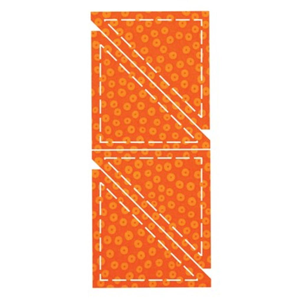 """55031 - AccuQuilt Die -  Half Square 4"""" Triangle"""