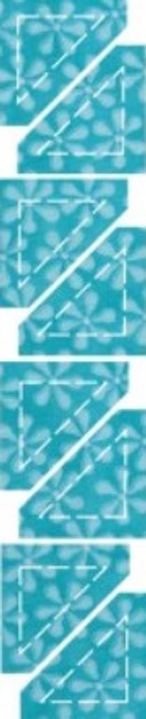 """55320 - AccuQuilt Die -  Half Square Triangle 1"""""""