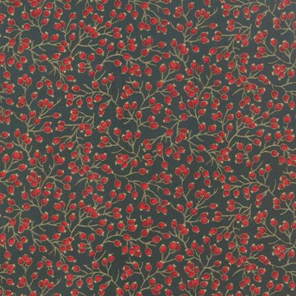 Berries Metallic - 33006 - Evergreen 1/2 Metre Length