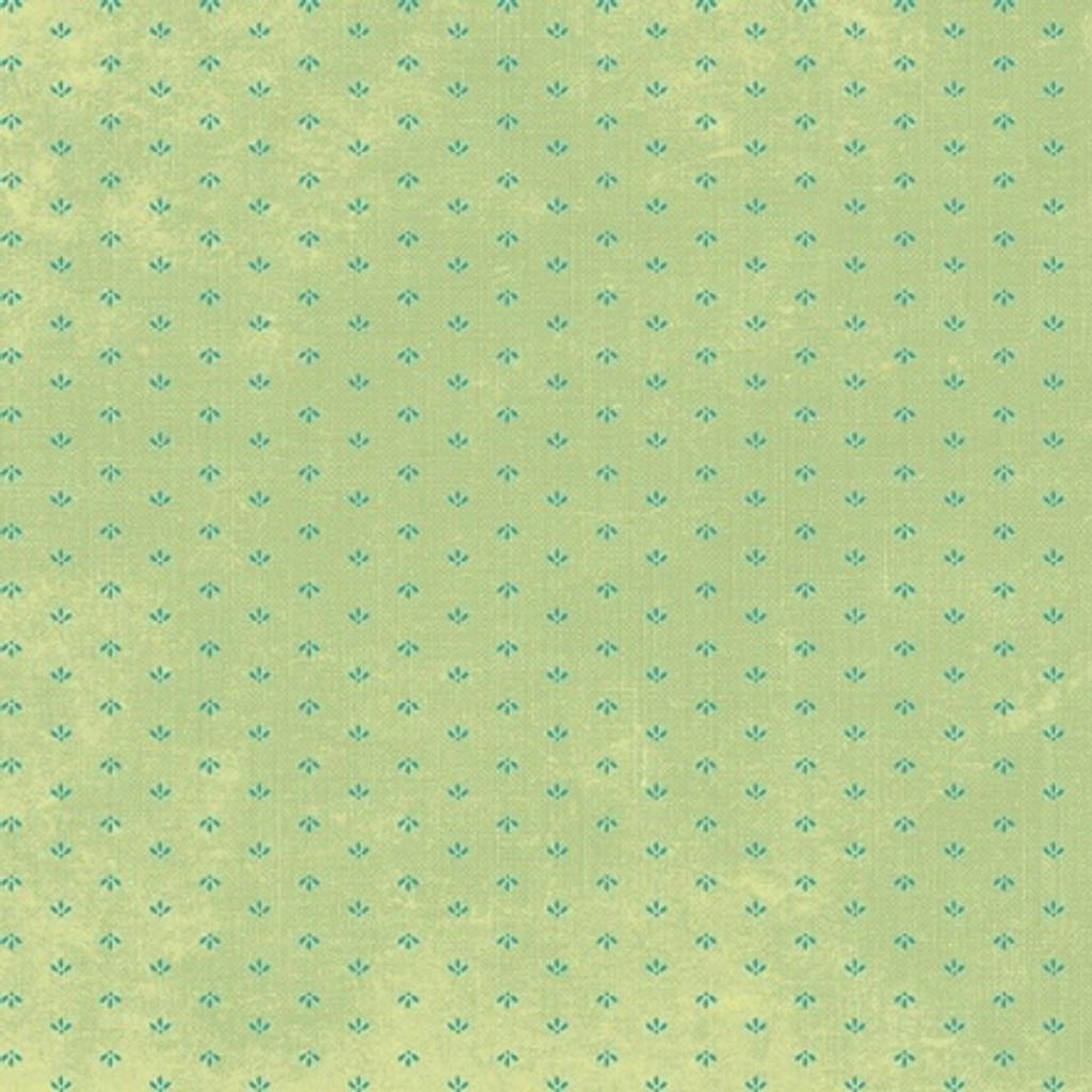Devotion - Mini Print Green 1/2 Metre Length