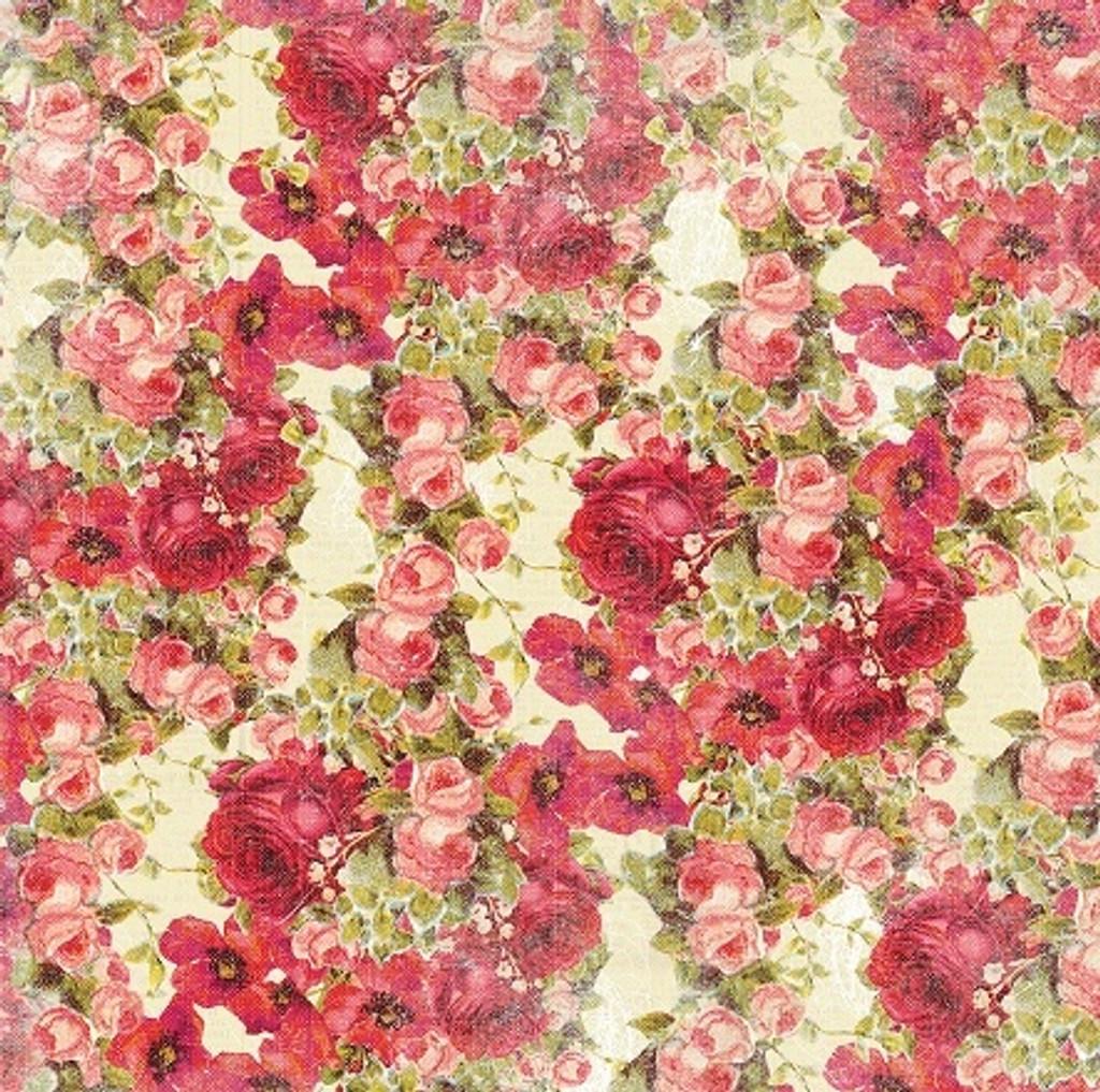 Devotion - Floral Cream 1/2 Metre Length