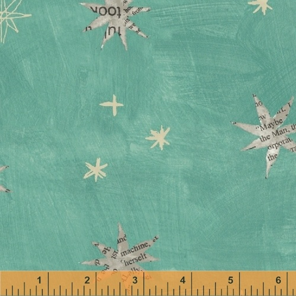 Wonder 50517-3 col  green star by Carrie Bloomston  - per half metre length