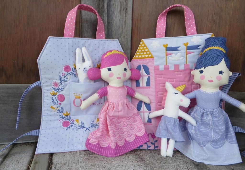 Once Upon a Time Princess Bag - Dolls Unicorn  and Castle Bag