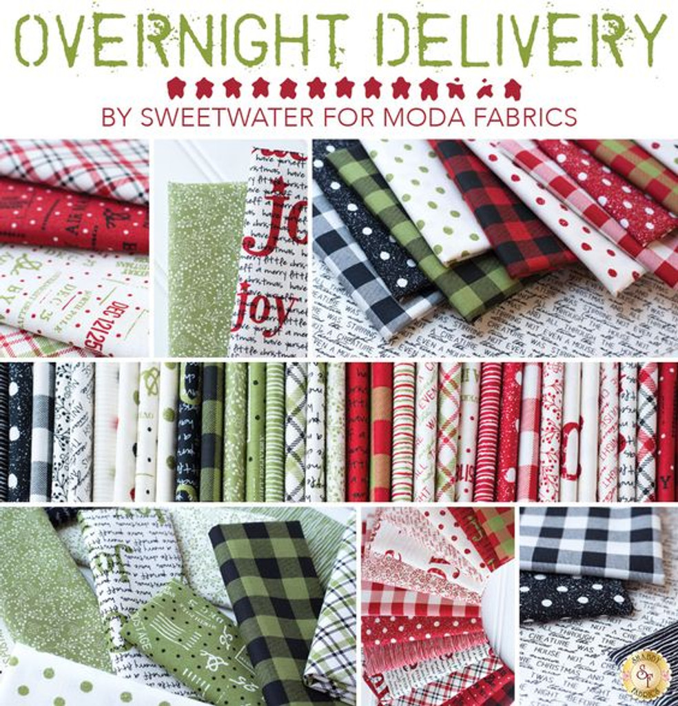 "MODA OVERNIGHT DELIVERY 10"" CHARM SQUARE - PROMO GET A 5"" FREE"