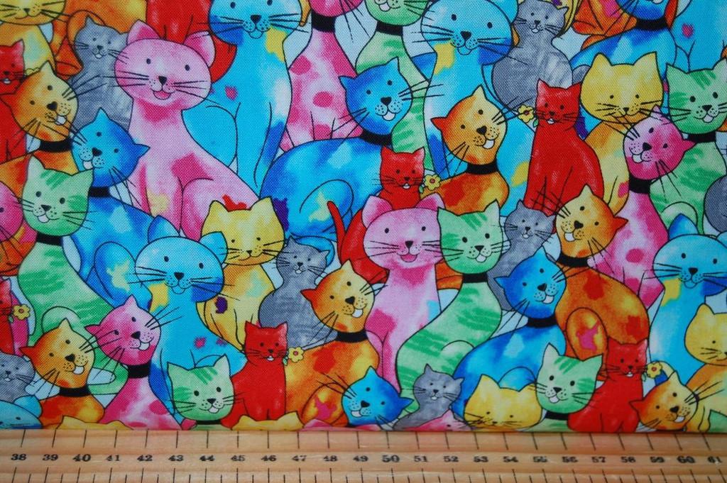 Blank Quilting Pablo Picatso 9779-22 muilti cats - per half meter length