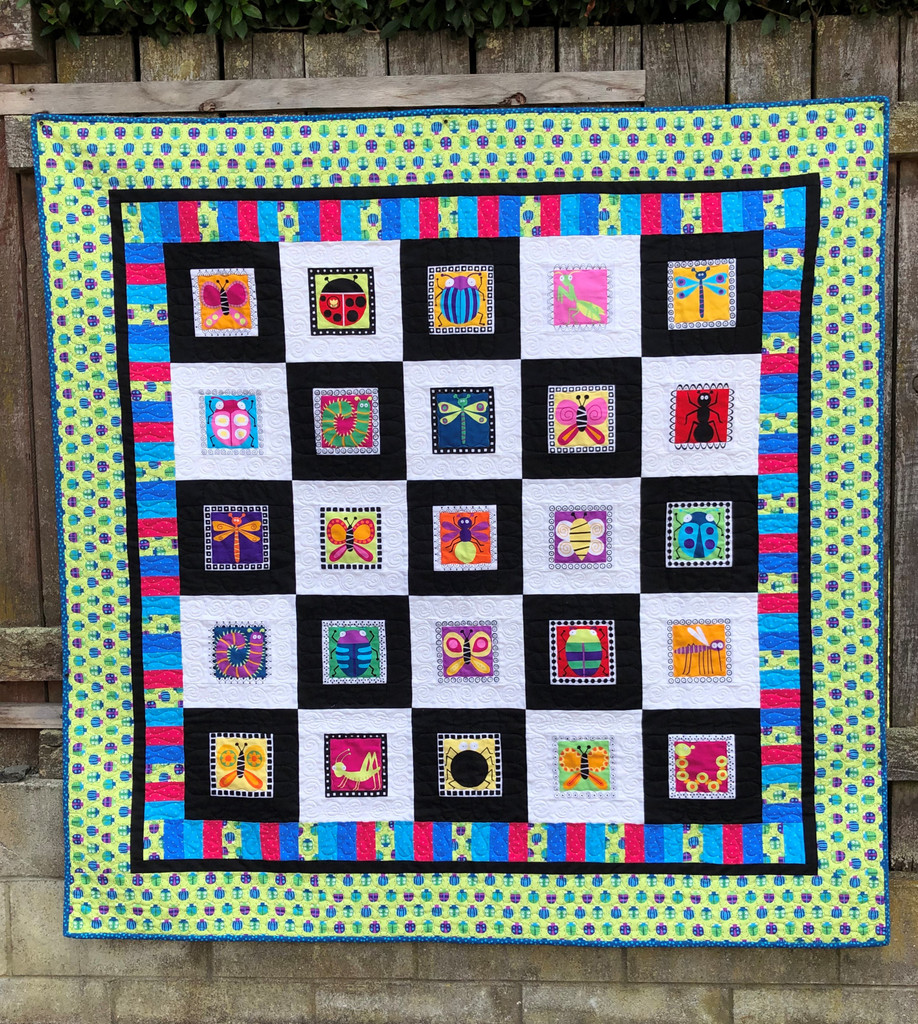 """Buzzin Around Quilt Kitset - Finished Size 63 1/2"""" 63 1/2"""" without backing see below for more"""
