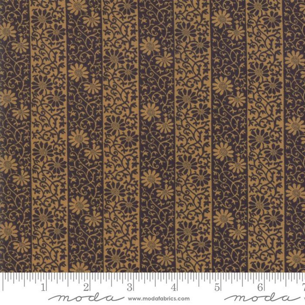 Moda May Morris Stripe Twill Ebone - Per half metre length