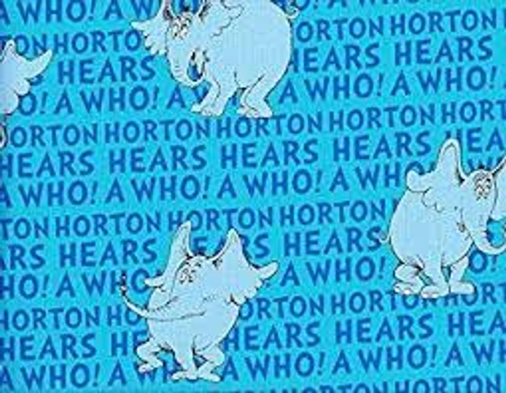 Dr Seuss - Cat in the Hat- Horton hears a who - per half metre length