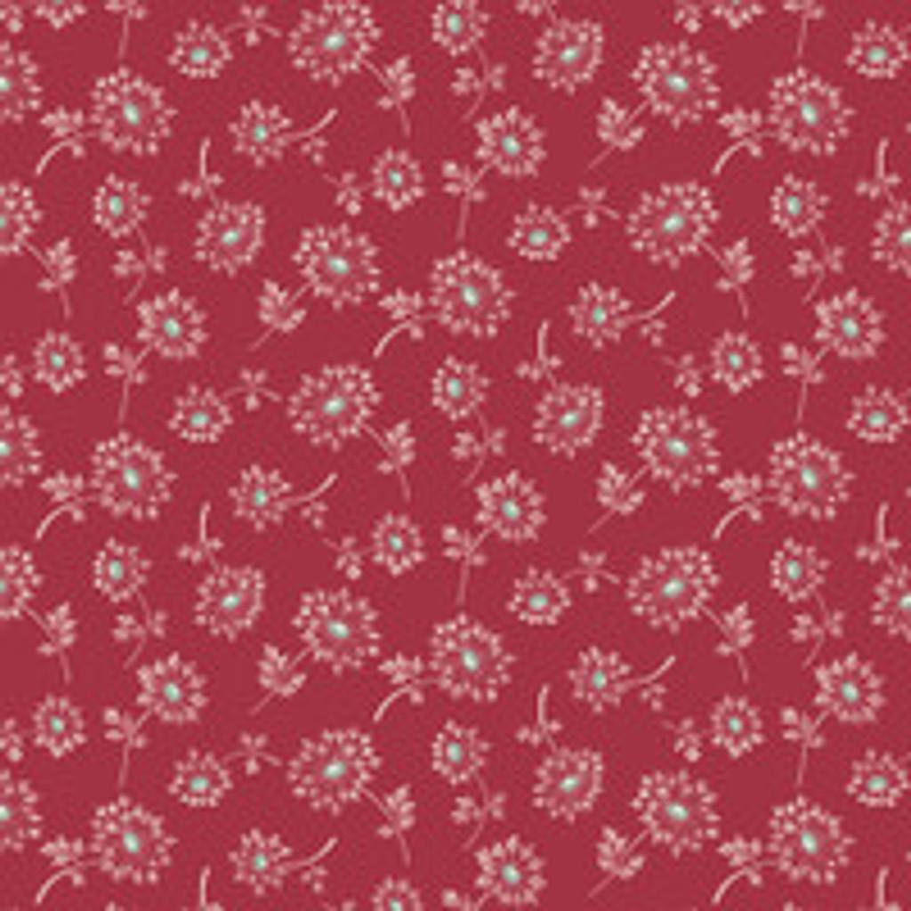 Laundry Basket Super Bloom Dandelion Red  by Edyta Sitar - per half meter length