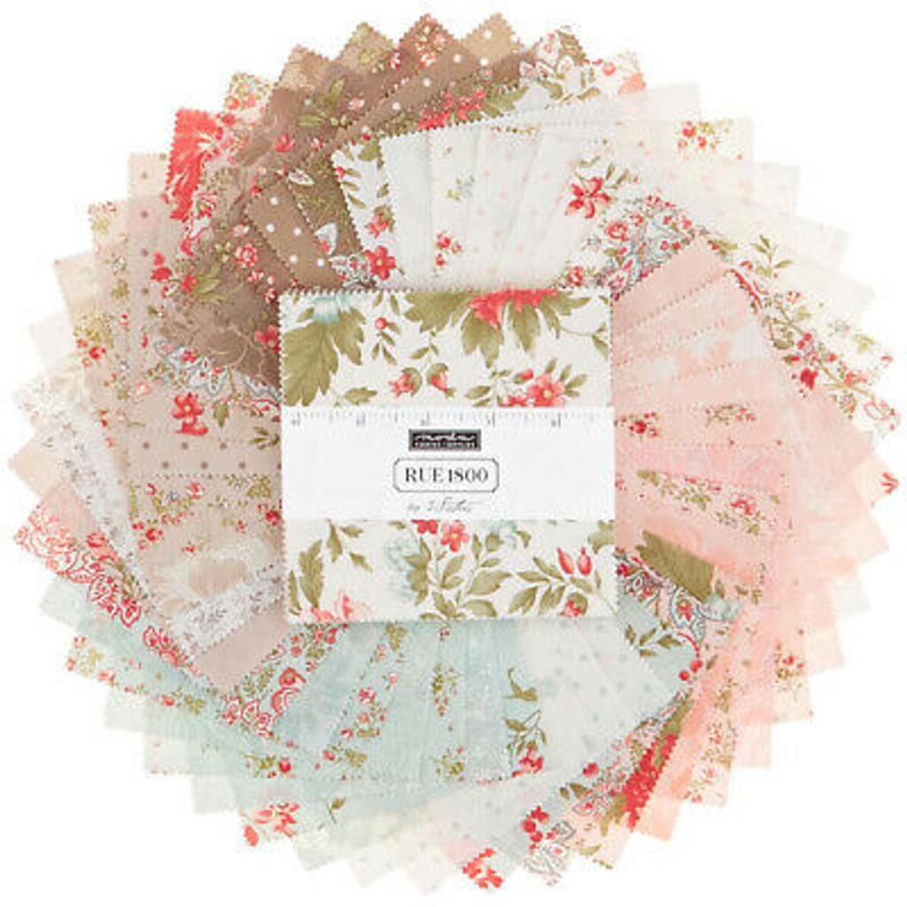 """Moda  - Rue 1800 by 3 Sisters 5"""" charm pack"""