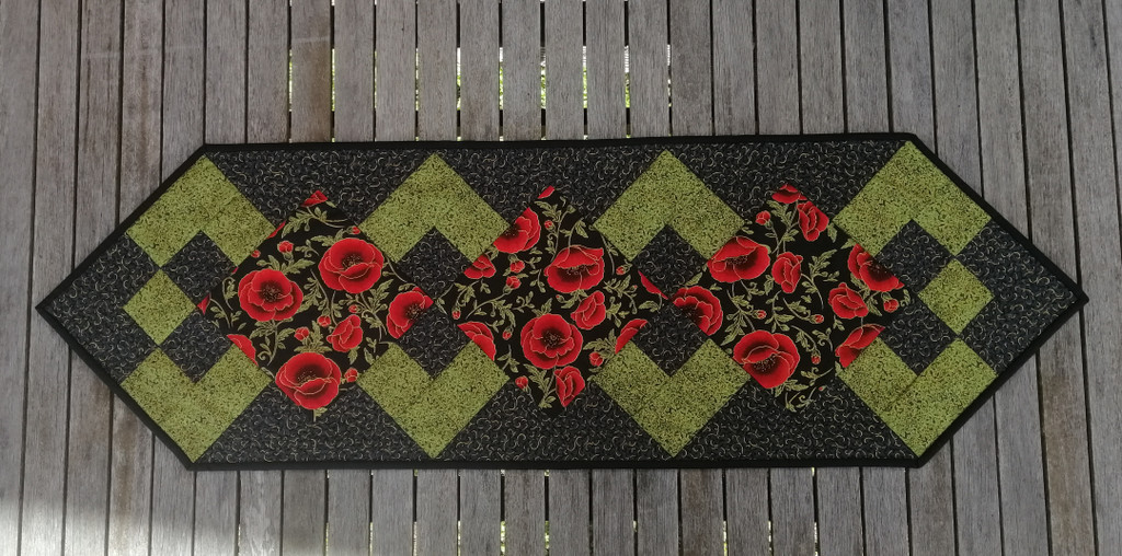 "Poppy Table Runner - Finished size 13"" x 41"""